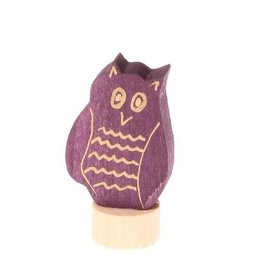 Grimm's Deco Owl small, purple