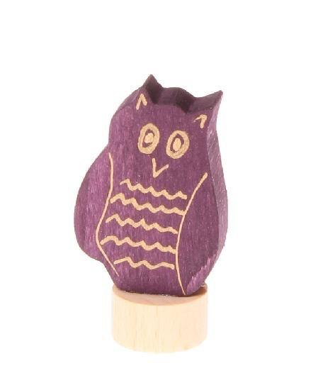 Grimm's Deco Owl small, purple