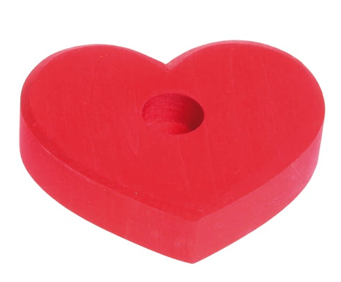 Grimm's Heart, Candle holder Small Red