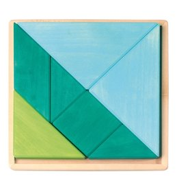 Grimm's Tangram Set, Blue-Green 7 Pcs.