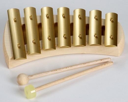 Auris Glockenspiel Seven tone Pentatonic – in pure fifth tuning – 432 Hz