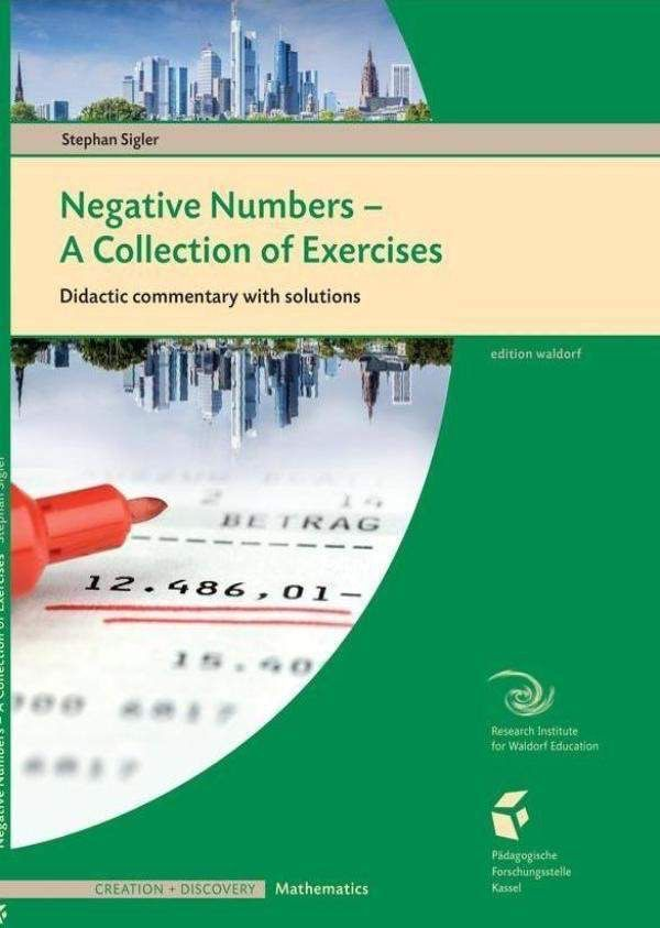Waldorf Publications Negative Numbers: A Collection of Exercises: Teacher Workbook