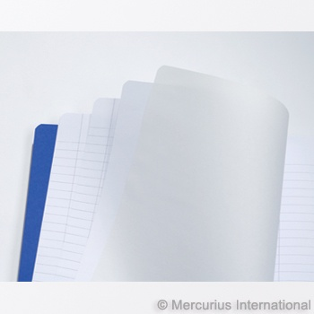 "Mercurius Main lesson book 2xlined/blank/onion - blu- med 8.25"" x 9.25"" (21x25cm)"