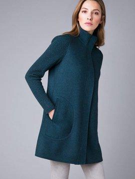 Kinross Kinross Rib Sleeve Zip Mock Coat