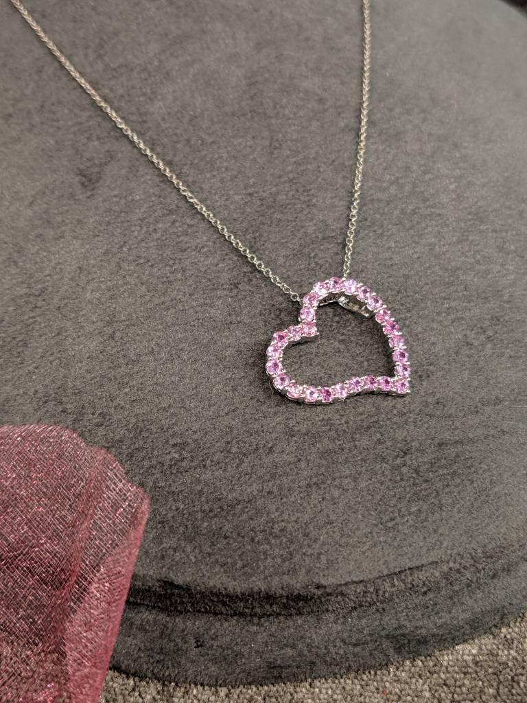 Elite Designs 18K Pink Sapphire Necklace