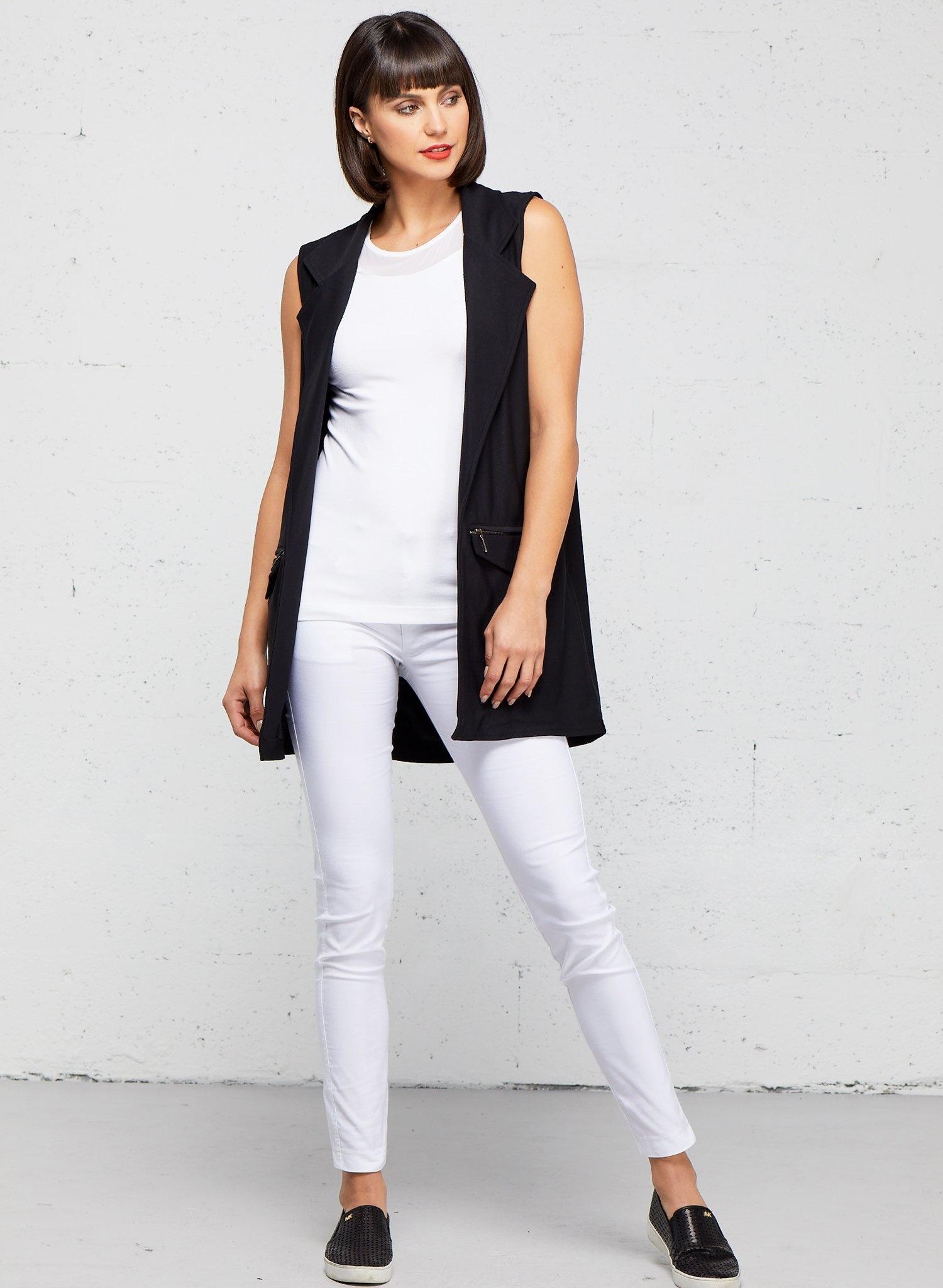 Anatomie Solange Knit Vest w/ Zipper Details