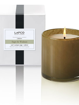 LAFCO Library Sage & Walnut 15.5oz Candle