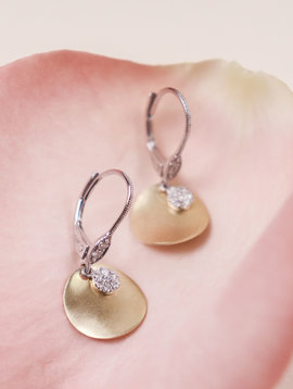 Meirat Gold Oval Pave Diamond Earring