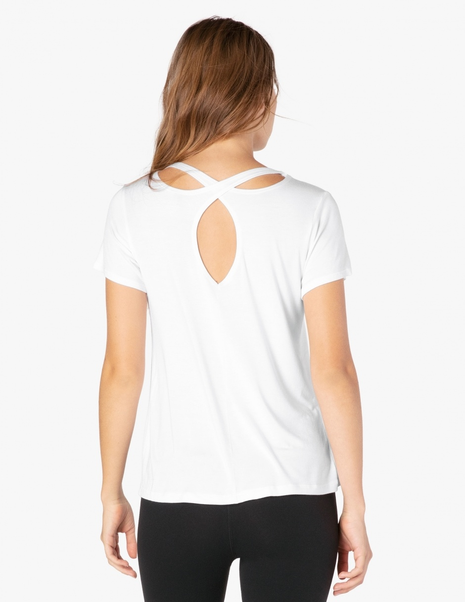Beyond Yoga Over Under Relaxed Tee