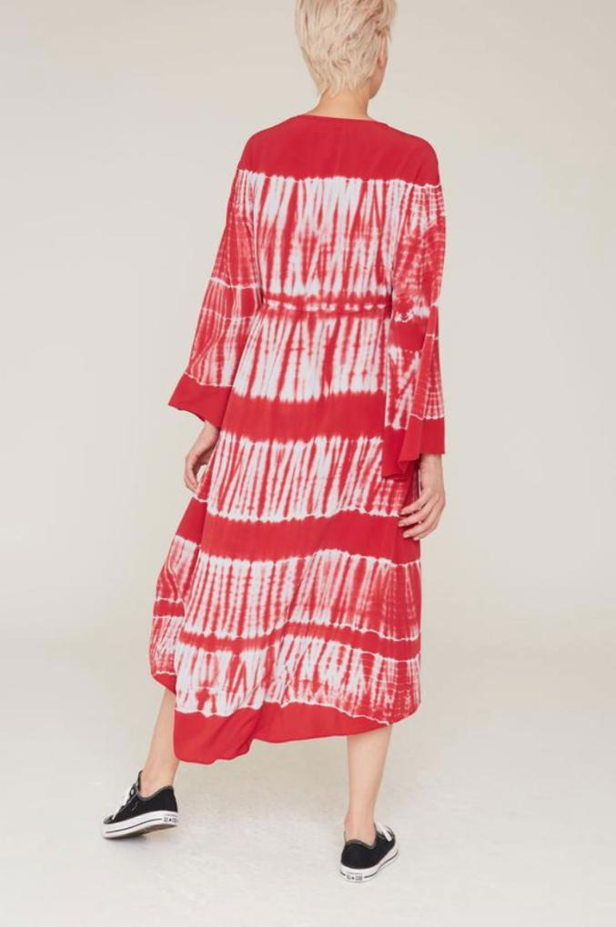 La Boheme Tahlia Silk Tapestry Print Dress
