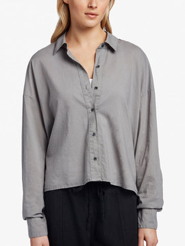 James Perse Cotton Lawn Boxy Shirt