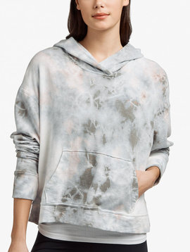 James Perse Relaxed Tie Dye Copped Hoodie