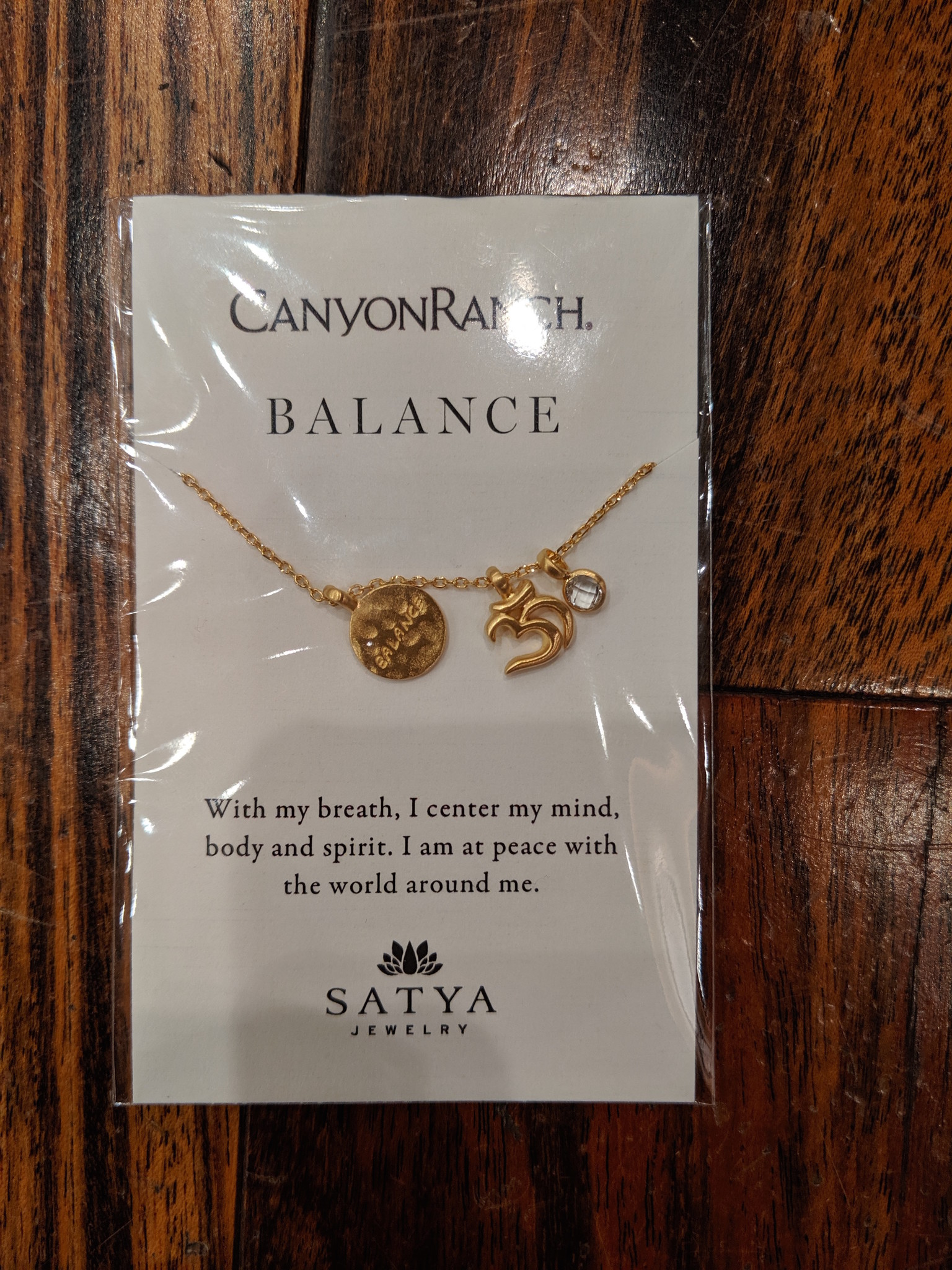 Satya Canyon Ranch Balance White Topaz Necklace
