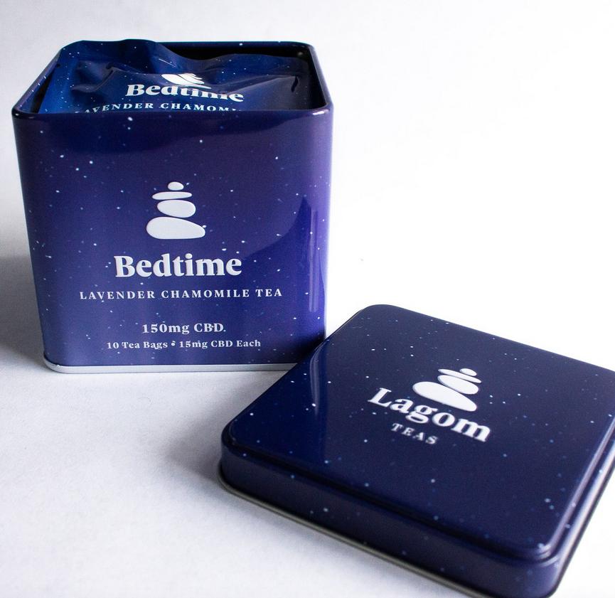 Lagom Teas Bedtime Lavender Chamomile CBD Tea