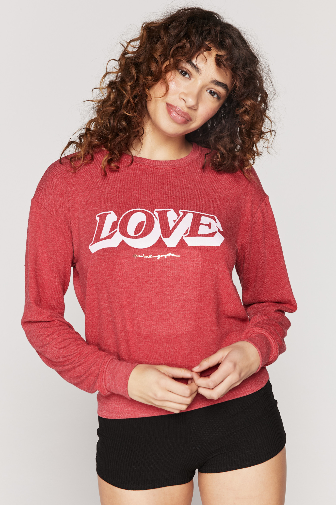Spiritual Gangster Love Crew Neck Savanna
