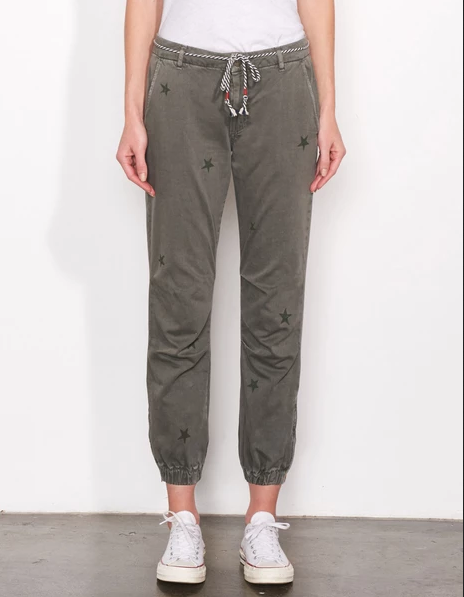 Sundry Star Stamps Zip Jogger