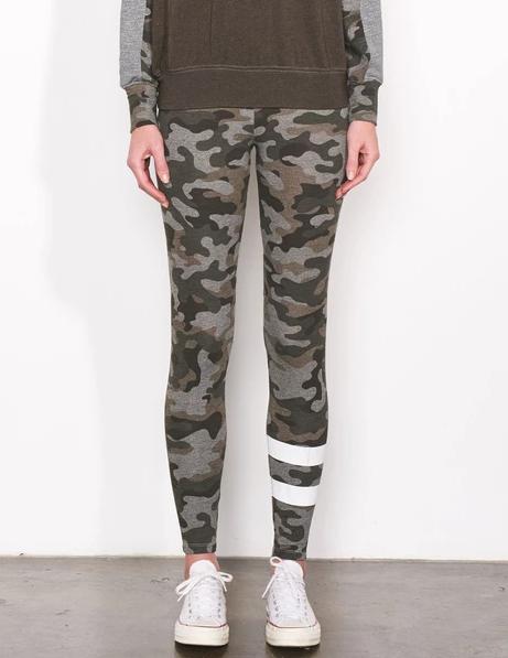 Sundry Camo Stripes Yoga Pant