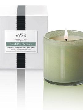 LAFCO Living Room Fresh Cut Gardenia 15.5oz Candle