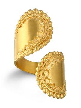 Satya Gold Open Mandala Ring Sz-7