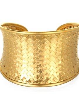 Satya Medium Gold Woven Cuff