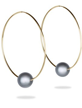 Vincent Peach Biltmore Hoop Earrings