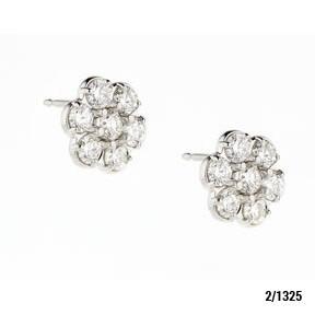 Elite Designs 14k Diamond Earrings 0.98 Carats Total Weight