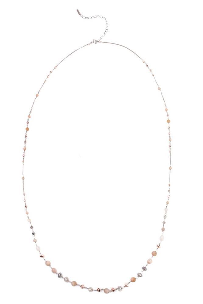Chan Luu Matte Sunstone Mix Layering Necklace