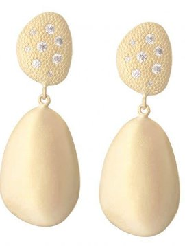 Anne Sportun Diamond Petal Drop Earrings