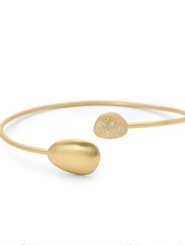 Anne Sportun Large Open Gold Diamond Petal Bangle