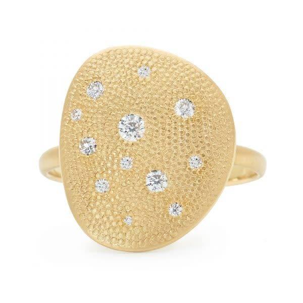 Anne Sportun Twelve Diamond Petal Ring