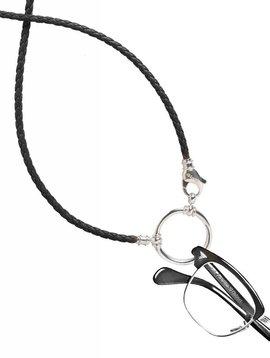 LaLoop Black Braided Leather Loop