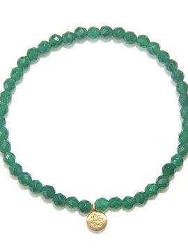 Satya Green Onyx Mini Ganesha Bracelet
