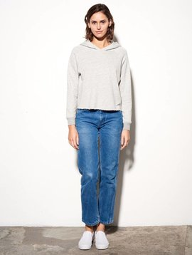 Sundry Cropped Terry Hoodie