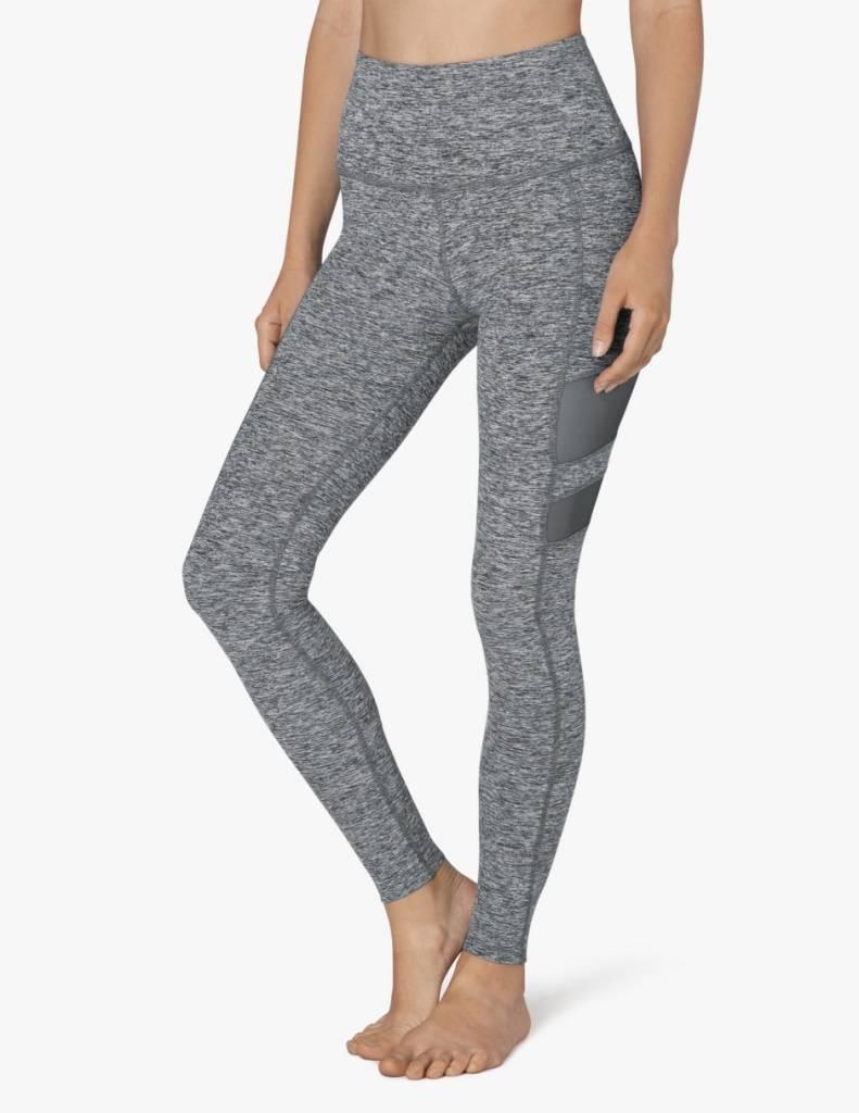 Beyond Yoga High Waist Stripped Mesh Long Legging