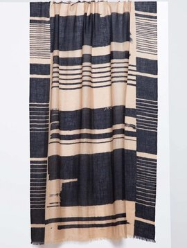 Kinross Linear Brushwork Print Scarf