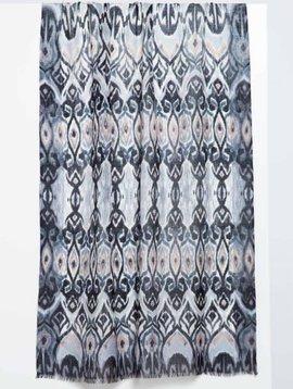 Kinross Tapestry Ikat Print Scarf
