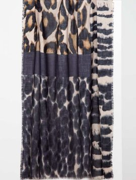 Kinross Melange Animal Print Scarf