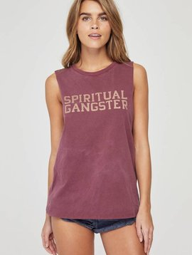 Spiritual Gangster Cutoff Band Tank