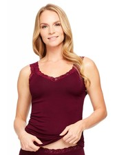 Montelle RED FLEUR'T LACE CAMISOLE WITH SHELF BRA