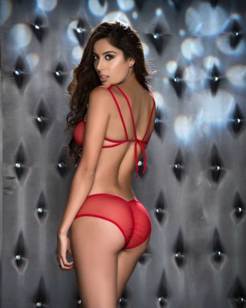 TONYA RED BRA SET