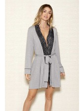 MODAL SHAWL LACE COLLAR ROBE