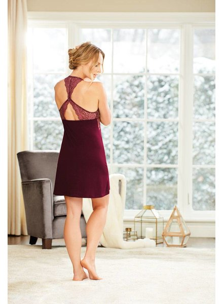 Fleur't MODERN ELEGANCE RACERBACK CHEMISE WITH LACE