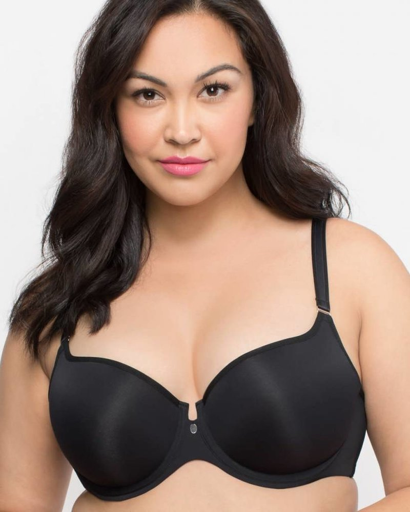 Curvy Couture TULIP SHEER SMOOTH T-SHIRT PUSH UP BRA
