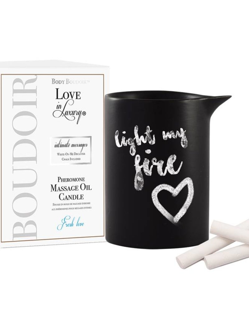 Love In Luxury Intimate Messages Candle