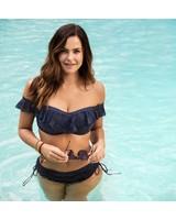 FANTASIE Marseille Underwire Bardot Bikini Swim Top - Twilight