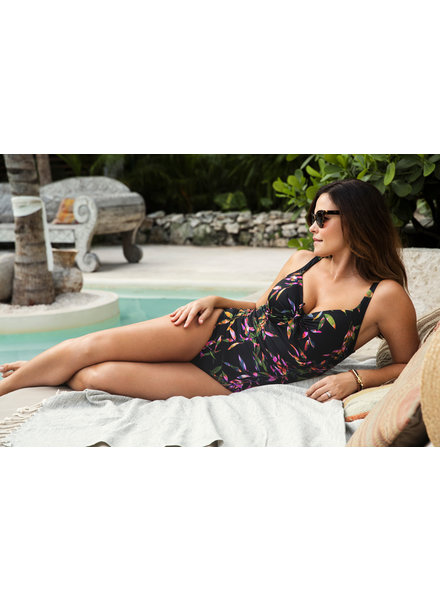 FANTASIE Palawan Black Control Swimsuit - Black