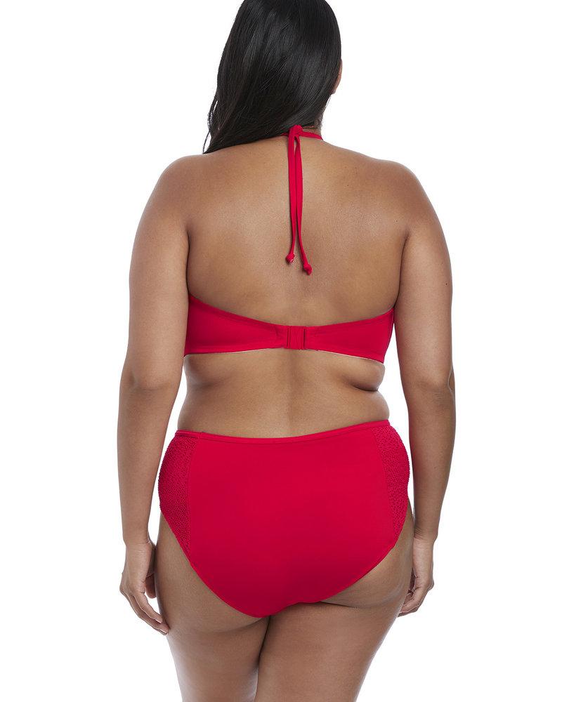 Elomi Indie Crochet Mid Rise Brief Swim Bottom - Red