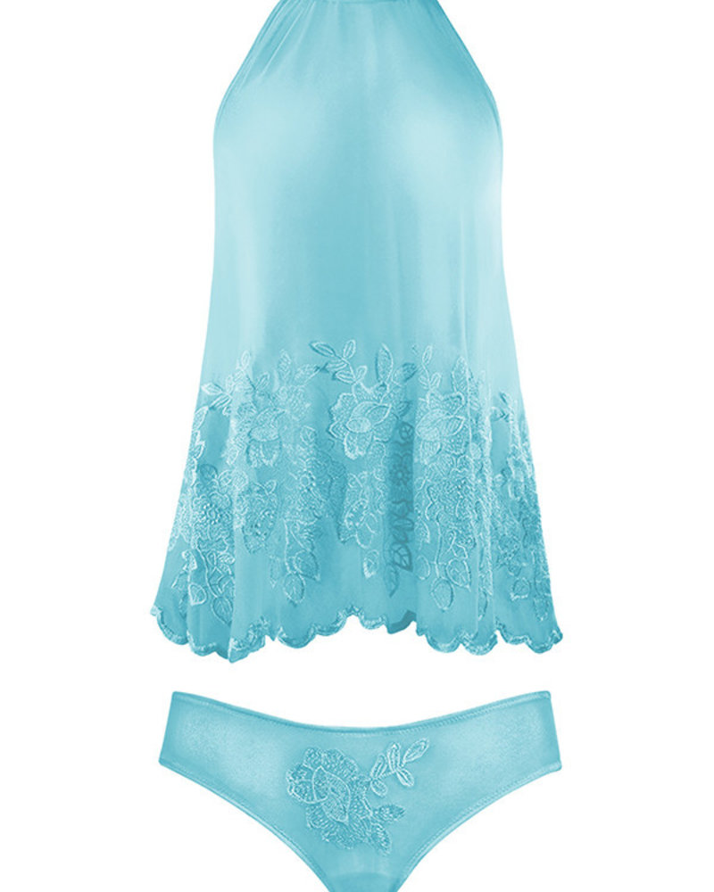 MARILYN EMBROIDERED BABYDOLL SET