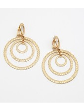Multi-Rings Metal Clip-On Earrings