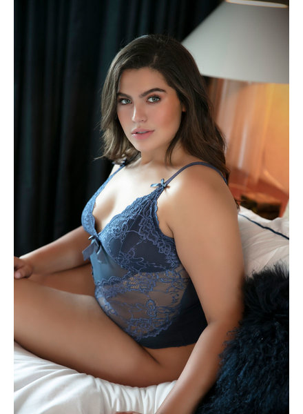 Plus Size Be Mine Teddy - Indigo